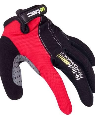 Motokrosové rukavice W-TEC Ratyno čierno-červená - XXL