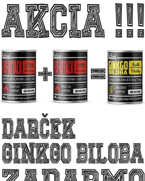 FitBoom 2+1 Zadarmo: Fat-Attack + Ginkgo Biloba Zadarmo - FitBoom 120 tbl. + 120 tbl. +100 tbl.