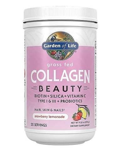 Garden of Life Collagen Beauty - jahoda a citrón - Kolagen 270g.