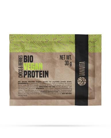 VanaVita Vzorka Bio Vegan Protein 30 g banán jahoda