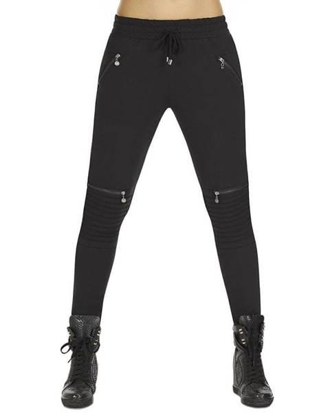 Bas Bleu Dámske nohavice BAS BLEU Izzy Black čierna - S