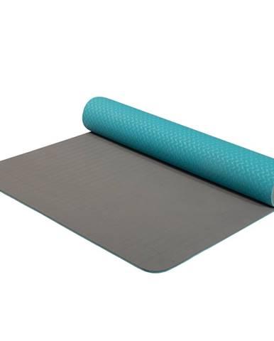 Dvojvrstvová podložka Yate Yoga Mat TPE tyrkysovo-šedá