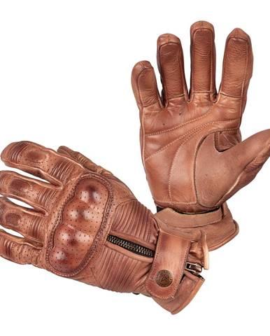 Moto rukavice B-STAR Garibal hnedá - S