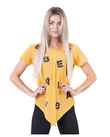 Dámske tričko Nebbia Tied knot Letters 680 Orange - S