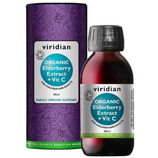 Viridian Elderberry Extract Organic + Vitamín C 100 ml