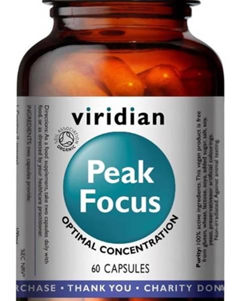 Viridian Viridian Peak Focus Organic ( Normálne kognitívne funkcie ) 60 kapsúl