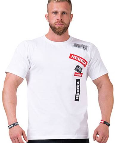 Nebbia Labels tričko 171 biele variant: L