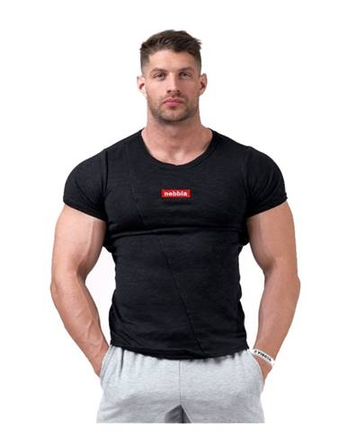 Pánske tričko Nebbia Red Label Muscle Back 172 Black - M