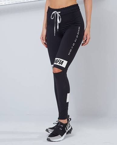 LABELLAMAFIA Dámske legíny Essential Knee Slit Black  S
