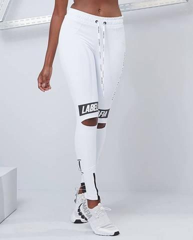 LABELLAMAFIA Dámske legíny Essential Knee Slit White  M