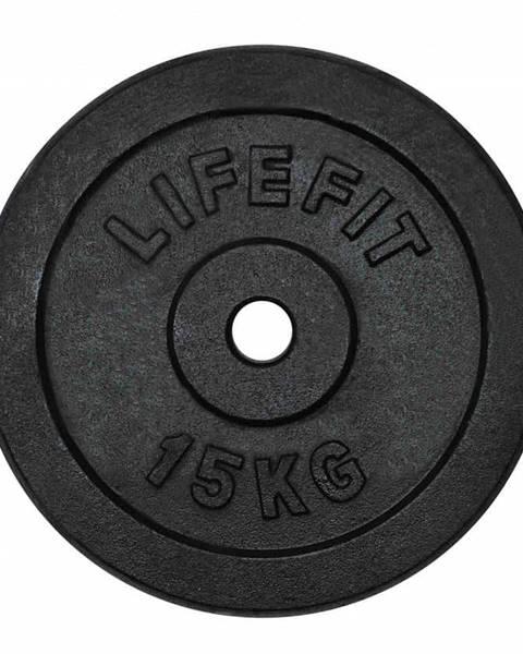 Lifefit Kotouč LIFEFIT 15kg, kovový, pro 30mm tyč