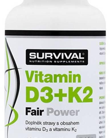 Survival Vitamín D3 + K2 120 kapsúl