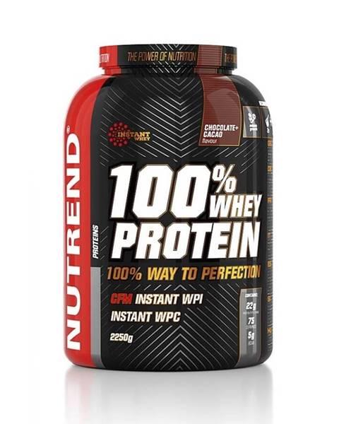 Nutrend Práškový koncentrát Nutrend 100% WHEY Protein 2250g čokoláda-kakao