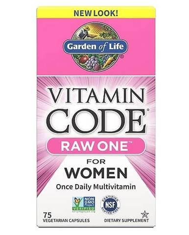 Garden of Life Vitamin Code RAW ONE - multivitamín pro ženy 75 kapslí