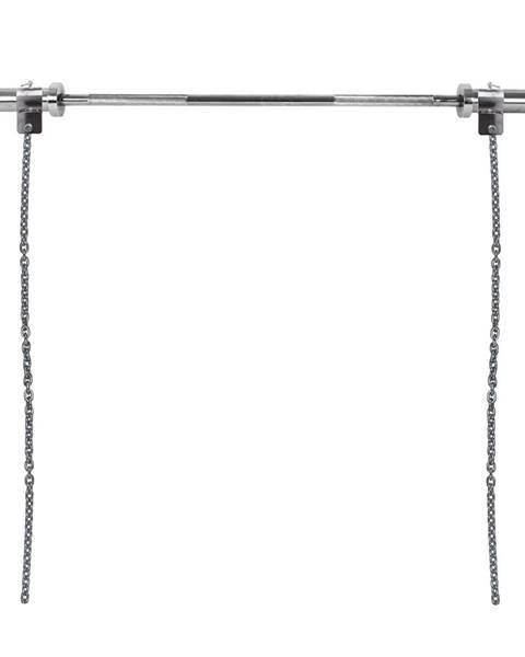 Insportline Vzpieračské reťaze s tyčou inSPORTline Chainbos Set 2x5 kg