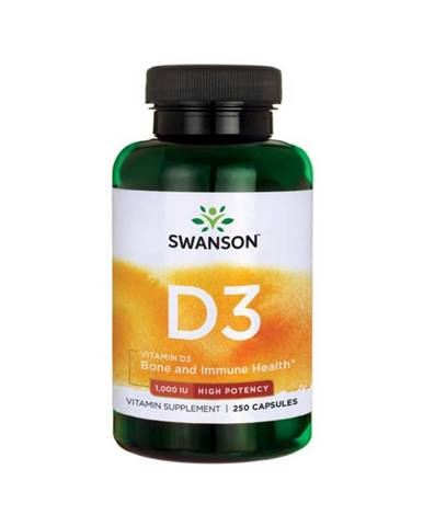 Swanson Vitamin D3 1000 IU 250 kaps.