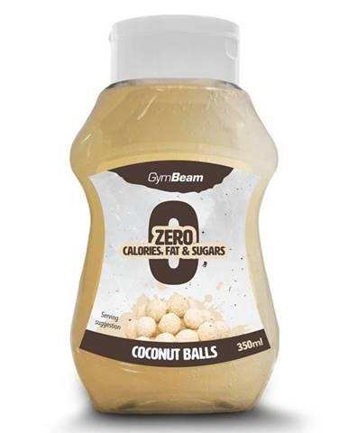 GymBeam Bezkalorický sirup Coconut Balls 350 ml kokos