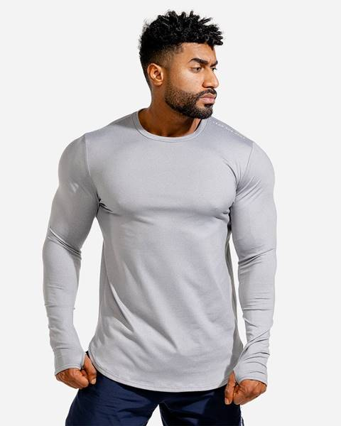 Squat Wolf Squat Wolf Long Sleeve Statement Muscle Grey  S
