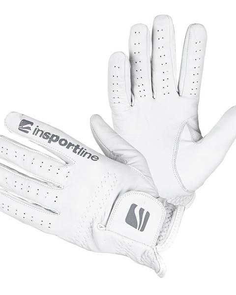 Insportline Pánske kožené rukavice inSPORTline Elmgreen krémovo biela - M/L
