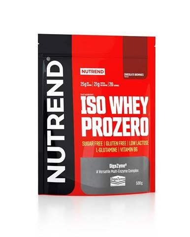 Práškový koncentrát Nutrend ISO WHEY Prozero 500 g čokoládové brownies