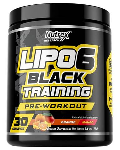 Lipo 6 Black Training - Nutrex 195 g Orange+Mango