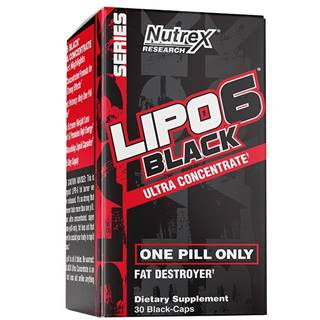 Lipo 6 Black Ultra Concentrate - Nutrex 60 kaps.