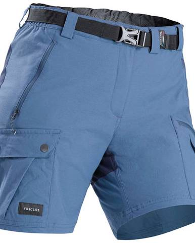 FORCLAZ Dámske šortky Trek 500 Modré