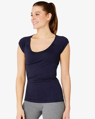 NYAMBA Dámske Tričko 500 Slim Modré