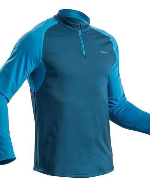 QUECHUA QUECHUA Pánske Tričko Sh100 Warm Modré