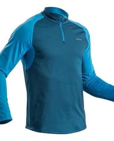 QUECHUA Pánske Tričko Sh100 Warm Modré
