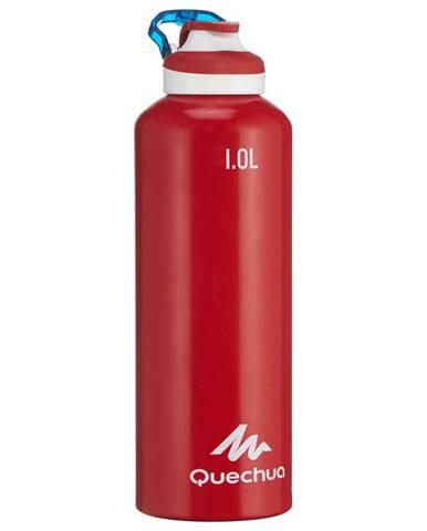 QUECHUA Hliníková Fľaša 500 1l červená