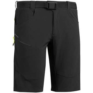QUECHUA Dlhé šortky Mh500 čierne