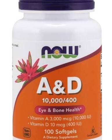 Now Foods Vitamín A + D 10.000/400 IU 100 tabliet