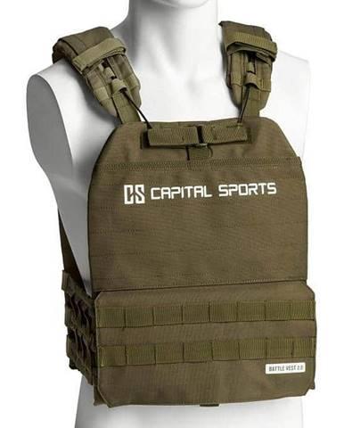 Capital Sports Battlevest 2.0 záťažová vesta 8 kg olivovozelená, Olivovo Zelená