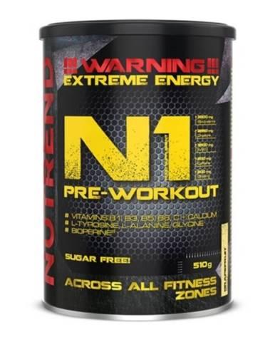 NUTREND N1 Pre-Workout 300 g čierne ríbezle