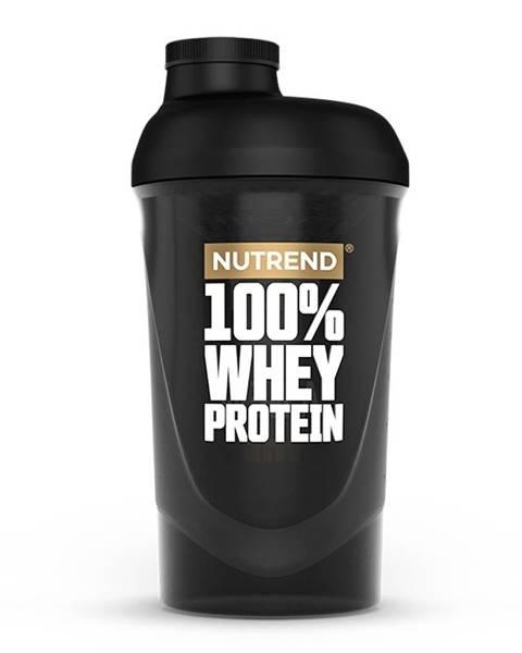 Nutrend Shaker Nutrend 100% WHEY 600 ml čierna