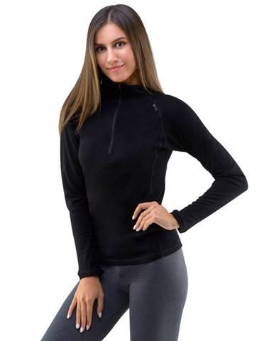 Dámske tričko s dlhým rukávom Merino Bamboo čierna - S