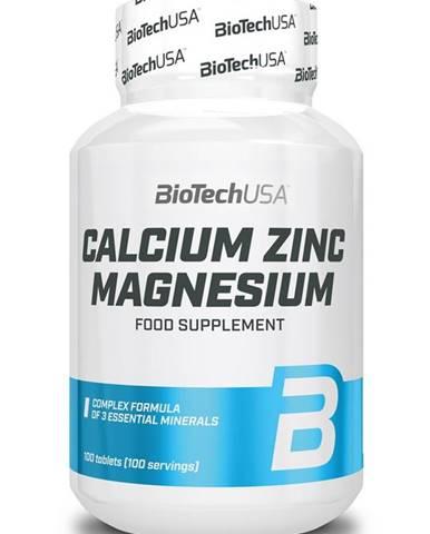 Calcium Zinc Magnesium - Biotech USA 100 tbl