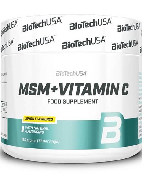 Biotech USA MSM + Vitamin C - Biotech USA 150 g Citrón