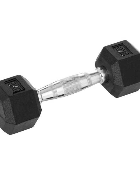 Insportline Šesťhranná činka inSPORTline Hexsteel 27,5 kg