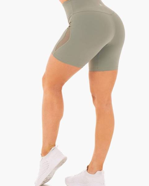Ryderwear Ryderwear Dámske šortky Hype High Waisted Mesh Olive  XS
