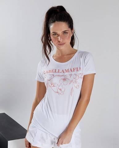 LABELLAMAFIA Dámske tričko Floral White  S