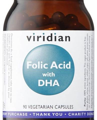 Viridian Folic Acid with DHA 90 kapsúl