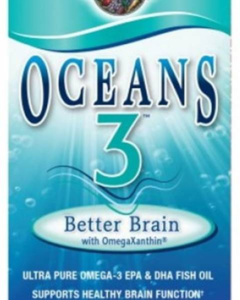 Garden of life Garden of Life Oceans 3 Better Brain Omega-3 Podpora činnosti mozgu 90 kapsúl