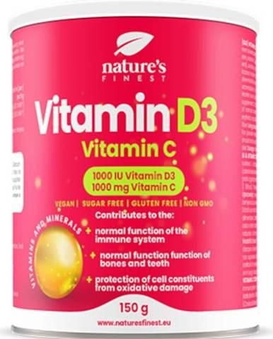 Nutrisslim Vitamín D3 1000 iu + Vitamín C 1000 mg 150 g