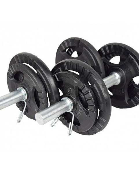 Kawmet Jednoručný nakladací činkový set KAWMET 2x10 kg
