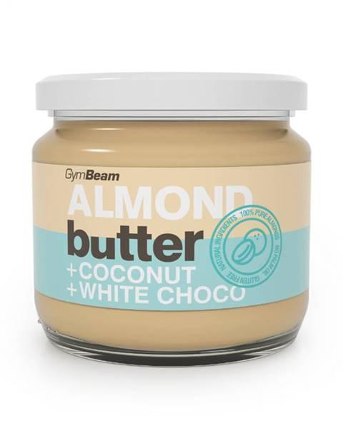 GymBeam GymBeam Mandľové maslo s kokosom a bielou čokoládou 340 g
