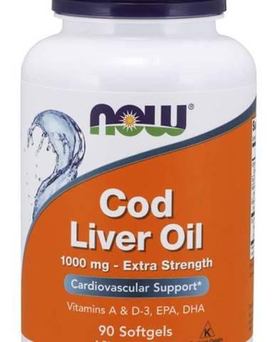 NOW Cod Liver Oil olej z tresčích jater 1000 mg 90 softgel kapsúl 90 kaps.