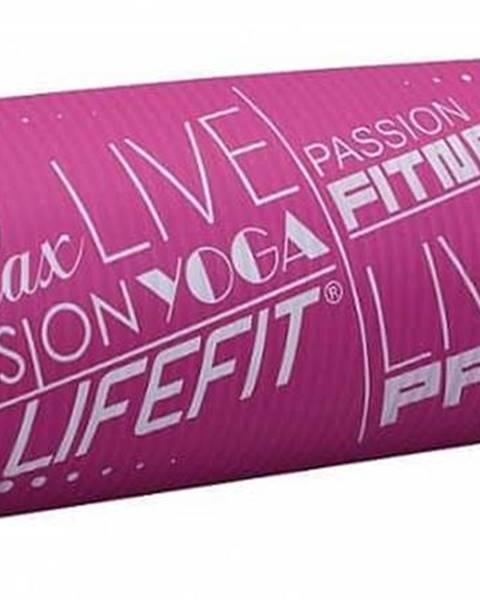 Lifefit Podložka LIFEFIT YOGA MAT EXKLUZIV PLUS, 180x58x1,5cm, bordó