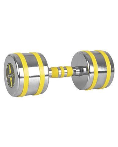Chrómová činka inSPORTline Yellsteel 12 kg